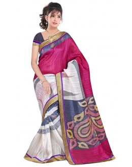 Party Wear Bhagalpuri Pink Saree - 80173