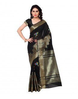 Designer Black Banarasi Silk Saree  - 80288
