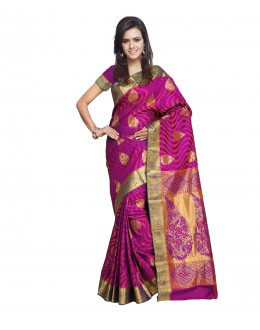 Traditional Pink Art Silk Saree  - 80292