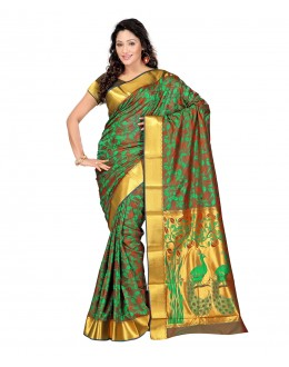 Traditional MultiColor Art Silk Saree  - 80294
