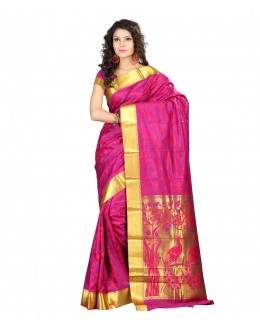 Traditional Pink Art Silk Saree  - 80298