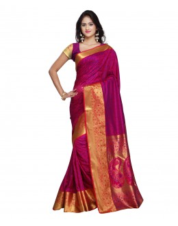 Traditional Pink Art Silk Saree  - 80301