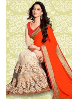 Bollywood Replica : Tamanna Bhatia In Orange Saree - 803037ED