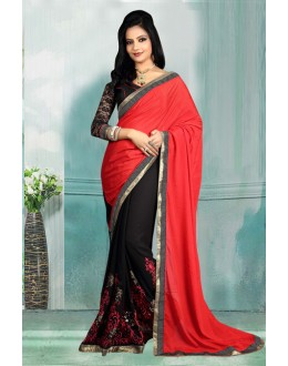 Bollywood Inspired - Georgette Half-Half Saree  - 80726