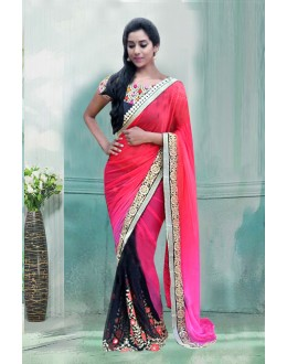 Bollywood Inspired - Party Wear Multi-Colour Saree  - 80733