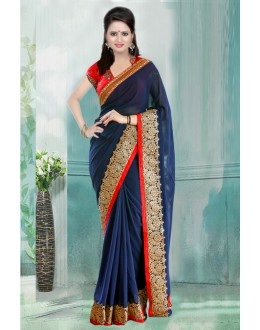 Bollywood Inspired - Festival Wear Blue Saree  - 80735