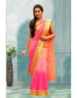 Bollywood Inspired - Festival Wear Pink Silk Saree  - 80747