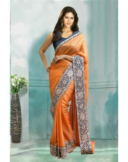 Bollywood Inspired - Festival Wear Orange Silk Saree  - 80749