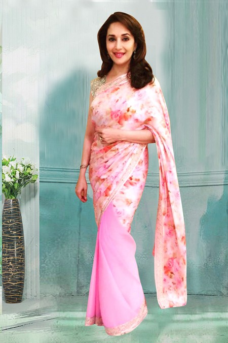 Bollywood Inspired - Madhuri Dixit In Georgette Saree  - 80759