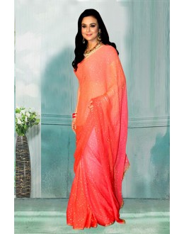 Bollywood Inspired - Preity Zinta In Pink Saree  - 80760