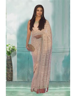 Bollywood Inspired - Aishwarya Rai In Georgette Saree  - 80761