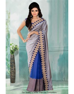 Bollywood Inspired - Party Wear Half & Half Saree  - 80763