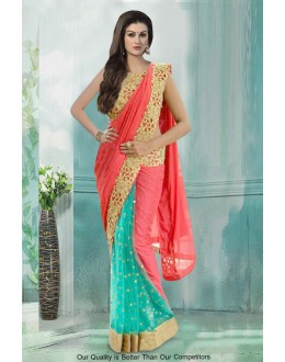 Bollywood Inspired - Ethnic Wear Half & Half Saree  - 80764