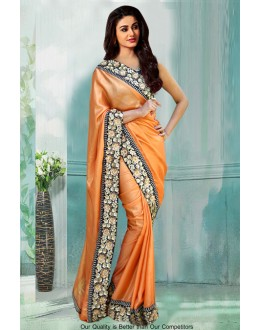 Bollywood Inspired - Festival Wear Orange Saree  - 80779