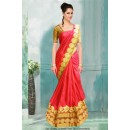 Bollywood Inspired - Ethnic Wear Red Saree  - 80785