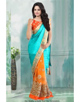 Bollywood Inspired - Georgette Half & Half Saree  - 80786