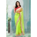 Bollywood Inspired - Ethnic Wear Green Saree  - 80787