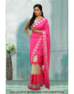 Bollywood Inspired - Georgette Half & Half Saree  - 80795