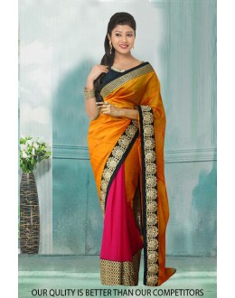 Bollywood Inspired - Georgette Half & Half Saree  - 80799