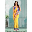 Bollywood Inspired - Ethnic Wear Yellow Saree  - 80811