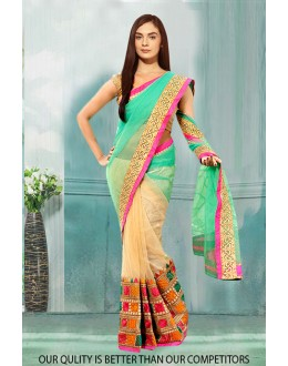 Bollywood Inspired - Georgette Half & Half Saree  - 80812