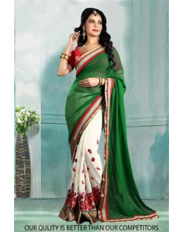 Bollywood Inspired - Georgette Half & Half Saree  - 80816