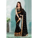 Bollywood Inspired - Ethnic Wear Black Saree  - 80817