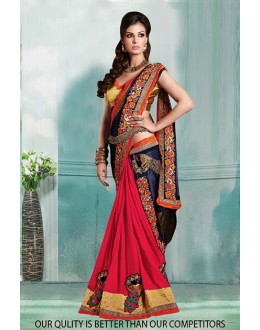 Bollywood Inspired - Festival Wear Half & Half Saree  - 80824