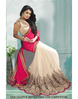 Bollywood Inspired - Georgette Half & Half Saree  - 80826
