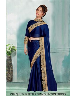Bollywood Inspired - Party Wear Blue Saree  - 80833
