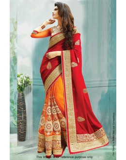 Bollywood Inspired - Georgette Half & Half Saree  - 80835