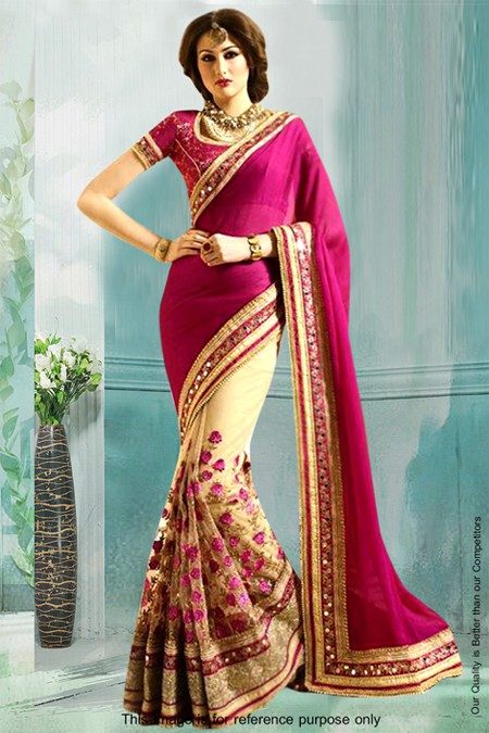 Bollywood Inspired - Festival Wear Half & Half Saree  - 80836