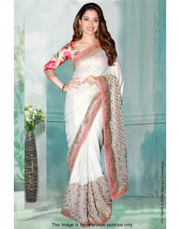 Bollywood Inspired - Tamanna Bhatia In White Saree  - 80841