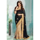 Bollywood Inspired - Tamanna Bhatia In Cream & Black Saree  - 81277