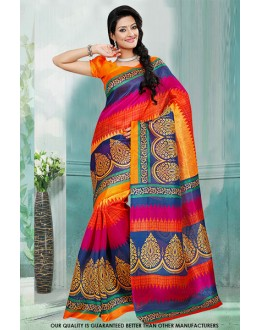 Festival Wear Multi-Colour Bhagalpuri Saree  - 81466