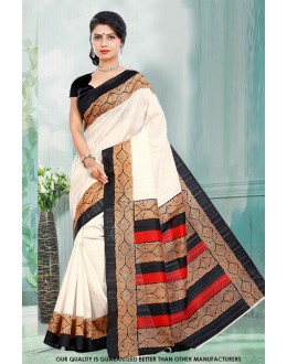 Ethnic Wear Off White Bhagalpuri Saree  - 81467