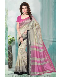 Party Wear Multi-Colour Bhagalpuri Saree  - 81470