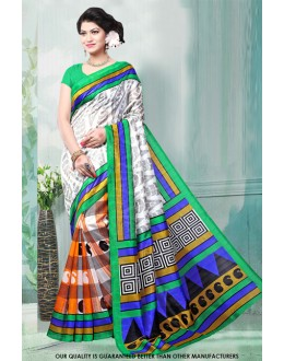 Casual Wear Multi-Colour Bhagalpuri Saree  - 81471