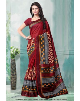 Maroon Colour Bhagalpuri Printed Saree  - 81473