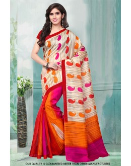Multi-Colour Bhagalpuri Printed Saree  - 81481