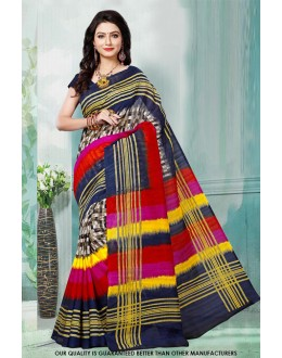 Bhagalpuri Multi-Colour Printed Saree  - 81484