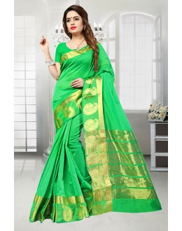 Ethnic Wear Green Banarasi Silk Saree  - 81515A
