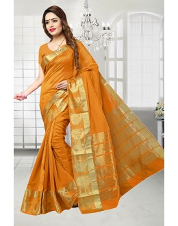Orange Colour Banarasi Silk Designer Saree  - 81515D