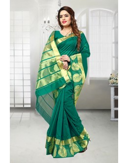 Banarasi Silk Green Colour Ethnic Saree  - 81515F
