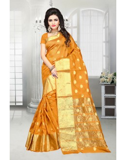 Orange Colour Banarasi Silk Saree  - 81516F