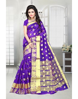 Purple Colour Banarasi Silk Designer Saree  - 81517D