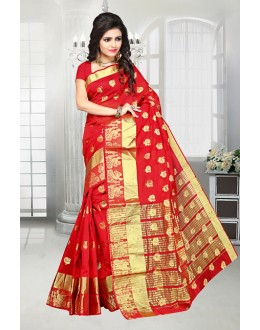 Red Colour Banarasi Silk Attractive Saree  - 81517E