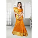 Ethnic Wear Orange Banarasi Silk Saree  - 81518B