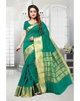Green Colour Banarasi Silk Saree  - 81518G