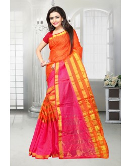 Ethnic Wear Orange Dora Kota Saree  - 81519F